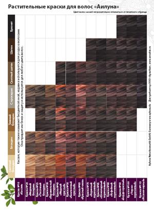 Аилуна листовка: Палитра растительных красок