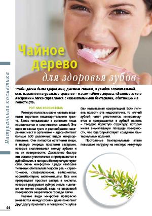 Чайное дерево для здоровья зубов